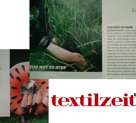 feature, textilzeitung, 2H2H, TooHotToHide