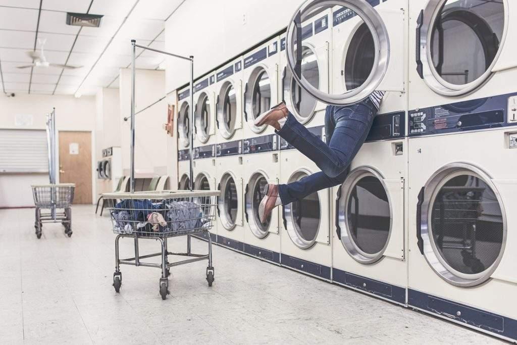 Socken gehen in der Waschmaschine verloren