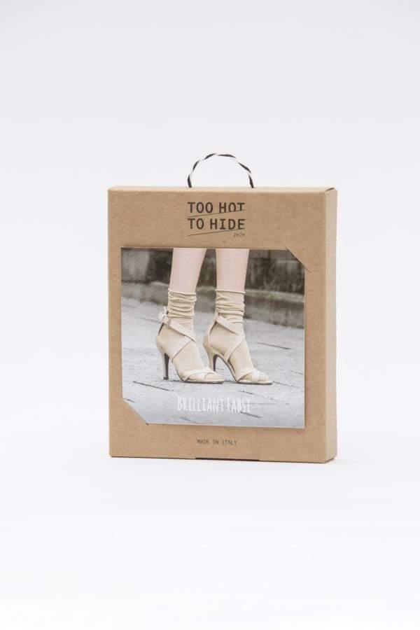 Verpackung Brilliant Fabsi gold : Lurex - Söckchen mit Rollrand - Abschluss zum Shoppen