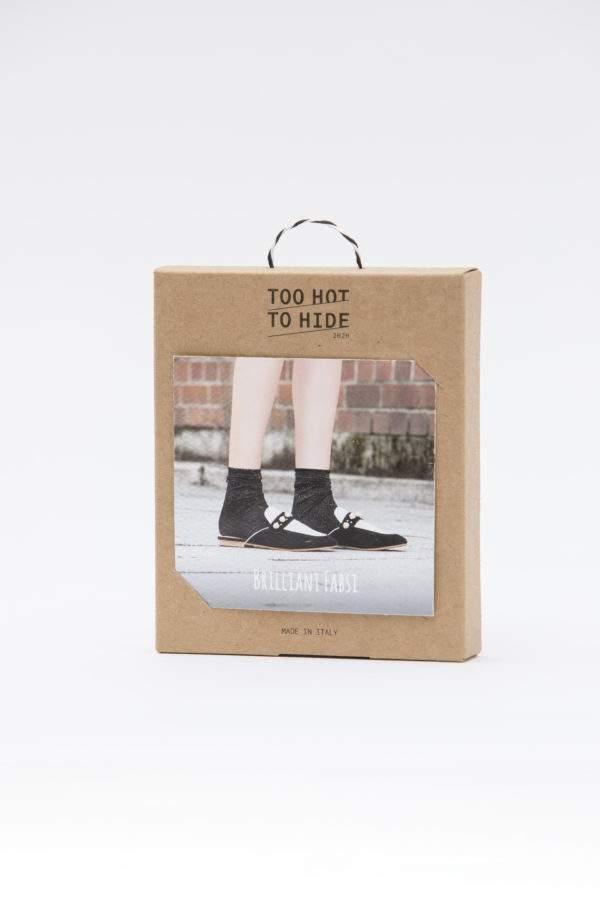Verpackung Brilliant Fabsi black: Lurex - Söckchen mit Rollrand - Abschluss zum Shoppen