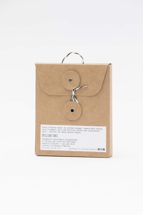 Verpackung Brilliant Fabsi : Lurex - Söckchen mit Rollrand - Abschluss zum Shoppen