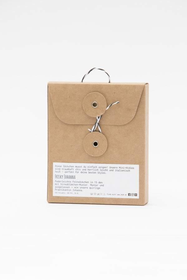 Verpackung Frisky Johanna white: 15 den Söckchen mit Streublümchen