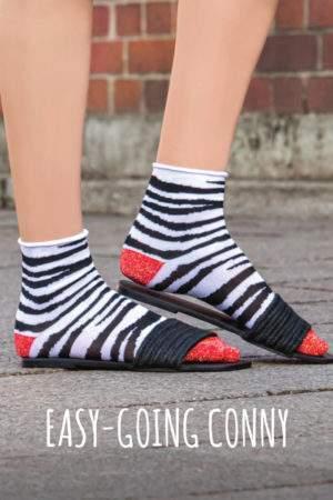 Easy going Conny black white: Zebra Söckchen