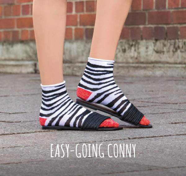 Easy going Conny black white: Zebra Söckchen