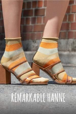 Remarkable Hanne orange mint: Glitzersöckchen