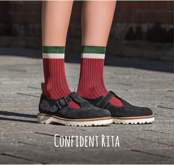 Confident Rita bordeaux