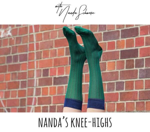 Nanda's Knee-Highs grün