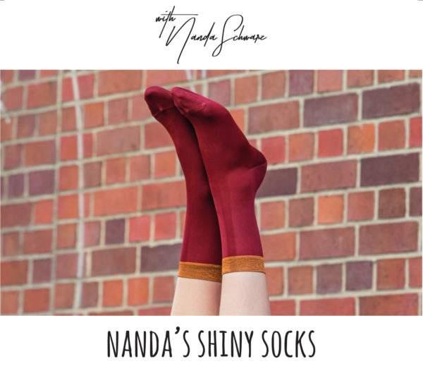Nanda's Shiny Socks ziegelrot
